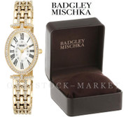 Badgley Mischka BA/1356WMGB Swarovski Crystal Accented Watch