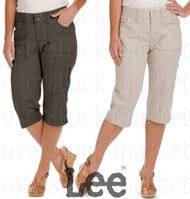 WOMEN'S LEE RELAXED FIT TAYLOR SKIMMER CAPRI PANT! CROPPED PANT
