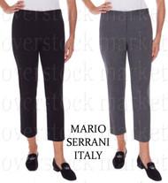 WOMENS MARIO SERRANI ITALY SLIMMING STRECH WOVEN PANTS