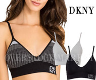 NEW OPEN PACKS WOMEN'S DKNY ENERGY SEAMLESS BRALETTE! 2 BRAS