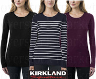 WOMEN'S KIRKLAND SIGNATURE CREWNECK SWEATER! RIB KNIT STRETCH!