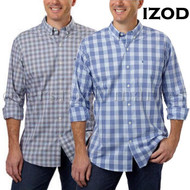 Mens Izod Long Sleeve Non-Iron Stretch Button Front Shirt!