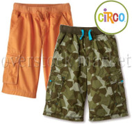 YOUNG BOYS CIRCO KNIT WAIST PULL ON CARGO SHORTS COTTON CARGO SHORTS