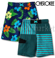 NEW BOYS CHEROKEE SWIM TRUNK! UPF 50+ PROTECTION! VARIETY!
