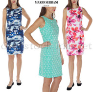 WOMENS MARIO SERRANI ITALY COMFORT STRETCH SHIFT DRESS! SLEEVELESS!
