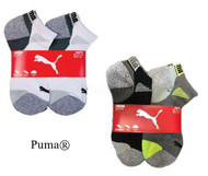 NEW OPEN PUMA MENS NO SHOW ALL SPORT ARCH SUPPORT SOCKS 6PK VARIETY SIZE/COLORS