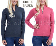 WOMEN'S EDDIE BAUER 1/2 ZIP PULLOVER SWEATER!