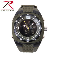 Rothco XLarge Military Style Analog & Digital Display Watch