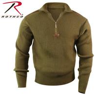 Rothco Quarter Zip Acrylic Commando Sweater
