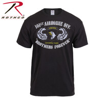 Black Ink Distressed 101st Airborne Division T-Shirt