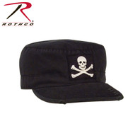 Rothco Vintage Military Fatigue Cap With Jolly Roger