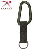 Rothco Jumbo 80MM Carabiner With Web Strap Key Ring