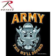 Rothco Black Army Emblem T-Shirt
