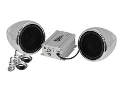 BOSS AUDIO MC420B Chrome 600 watt Motorcycle/ATV Sound System with Bluetooth Audio Streaming