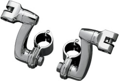 Kuryakyn Longhorn Offset Peg Mounts , With 1-1/4in. Magnum Quick Clamp 7986