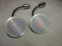 Halo LED BRIGHT WHITE LED Turn Signal Inserts - Flat style Harley Davidson