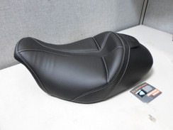 Saddlemen Dominator Solo Seat with Backrest Option Smooth SaddleHyde 0801-0804