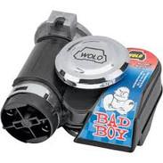 WOLO BAD BOY Dual Tone Air Horn Bike Car HARLEY DAVIDSON 419 BLACK