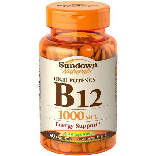 Sundown Naturals Vitamin B-12 1000 mcg, 60 ct, 1 Ea