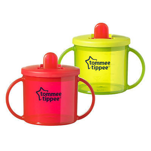 Tommee Tippee Free Flow Trainer BPA Free Cups, 4M+, Colors May Vary, 6 Oz, 2 ct, 1 Ea