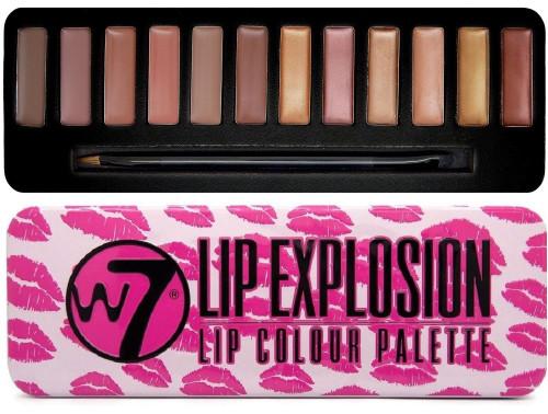 W7 Lip Explosion Lip Colour Palette, 12 Shade Lip Kit, 1 Ea
