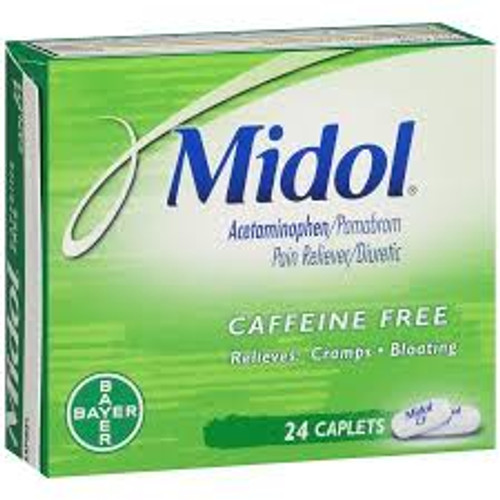 Midol Caffiene Free Pain Relieving Caplets, 24 ct, 1 Ea