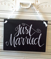 HM018 - Just Married Sign