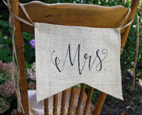 "PS17B - ""MrS"" Burlap Chair Backer"