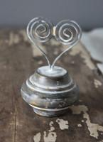 CIH185 - Doorknob Heart Holder Zinc