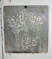 """CIH272 - Metal Stencil - 6"""" x 6"""" - Butterflies"""