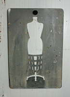 "CIH283 Metal Stencil 4"" x 6"" - Dress Form"
