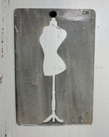 "CIH282 Metal Stencil 4"" x 6"" - Funky Dress Form"
