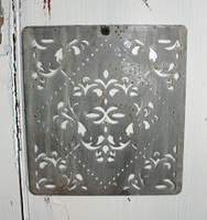 "CIH274 - Metal Stencil  - 6"" x 6"" - French"