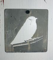 """CIH277 - Metal Stencil 4"""" x 4"""" - Bird"""