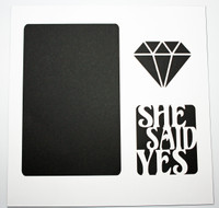 She Said Yes - White Over Black