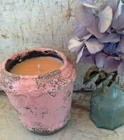 Delicate Ceramic Pot-Tahitian Vanilla-Pink