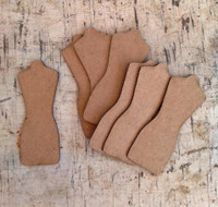 Chipboard Dress Forms-Set of 8
