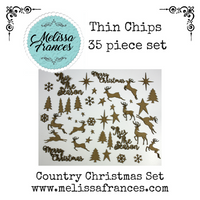 Thin Chips-Country Christmas Set-35 pcs