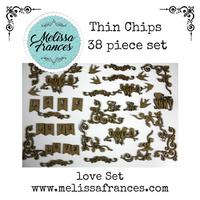 Thin Chips-Love Set-38 pcs