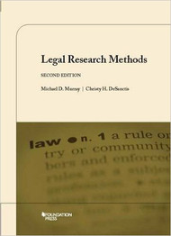MURRAY'S LEGAL RESEARCH METHODS (2ND, 2015) 9781609302429