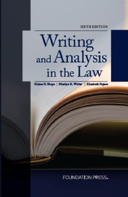 SHAPO'S WRITING AND ANALYSIS IN THE LAW (6TH, 2013) 9781609302726