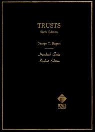 BOGERT'S TRUSTS (HORNBOOK SERIES) (6TH, 1987) 9780314351395
