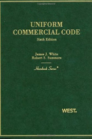 WHITE'S UNIFORM COMMERCIAL CODE (6TH, 2010) (HORNBOOK SERIES) 9780314926692