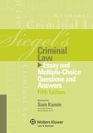 SIEGEL'S: CRIMINAL LAW (2013)