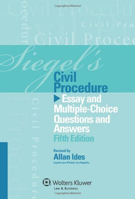 SIEGEL'S: CIVIL PROCEDURE (2012) 9781454809241