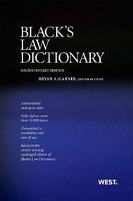 BRYAN A. GARNER'S BLACK'S LAW DICTIONARY: POCKET EDITION (4TH, 2011)