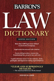 GIFIS BARRON'S LAW DICTIONARY (6TH, 2010)