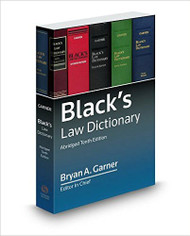 GARNER'S BLACK'S LAW DICTIONARY ABRIDGED (10TH, 2015) 9780314642721