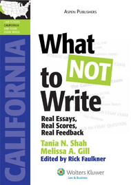 SHAH'S WHAT NOT TO WRITE: REAL ESSAYS, REAL SCORES, REAL FEEDBACK (2010) 9780735594050