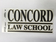 CONCORD LAW SCHOOL WINDOW DECAL